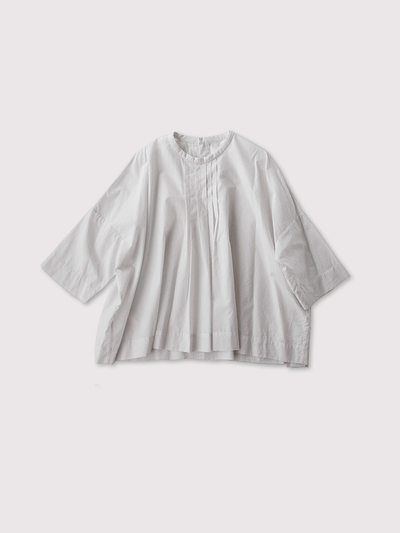 Tuck front big slip on blouse~cotton 1