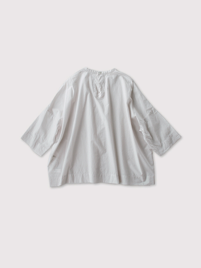 Tuck front big slip on blouse~cotton 3