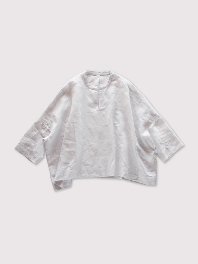 Front slit big slip on blouse~linen 1