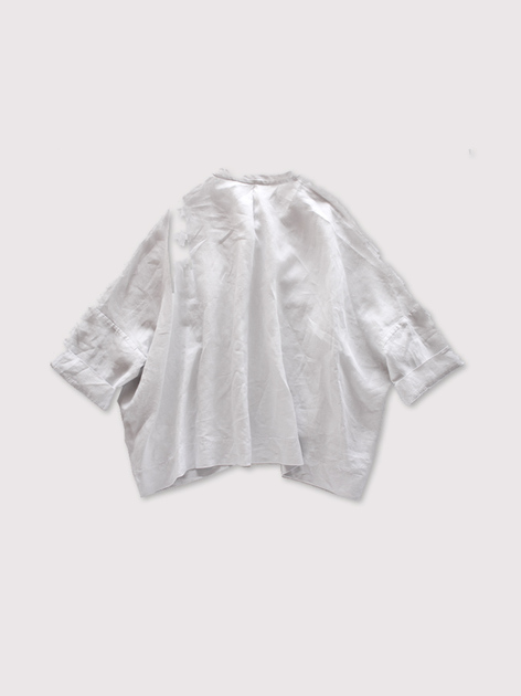 Front slit big slip on blouse~linen 3