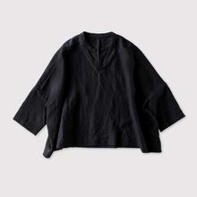 Front slit big slip on blouse~linen