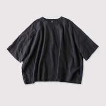 Raglan woven tee big~cotton silk