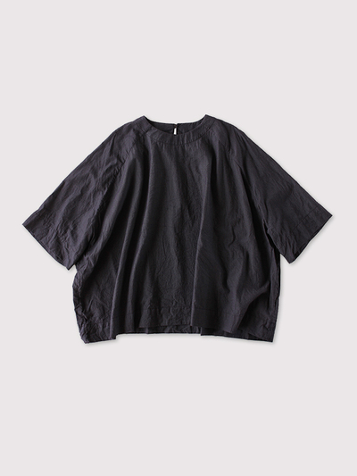 Raglan woven tee big~cotton silk 1
