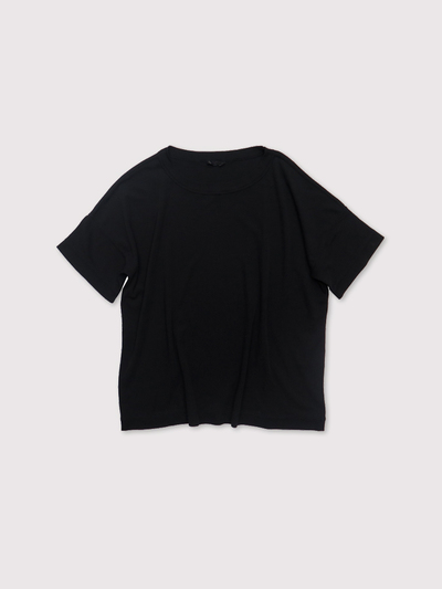Loose fit T-shirt~fine cotton crape smooth 1