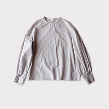 Tuck cuff blouse~cotton
