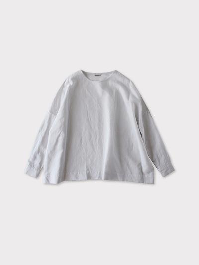 Shoulder button big slip on blouse~cotton linen 1