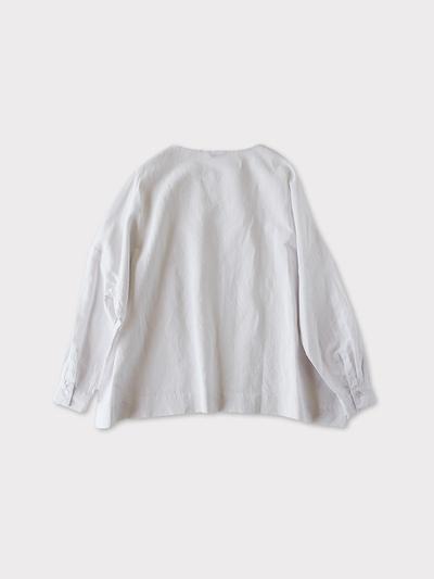 Shoulder button big slip on blouse~cotton linen 3