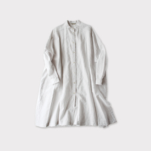 Front open long shirt~cotton linen