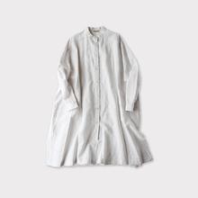Front open long shirt~cotton linen