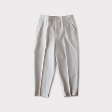 Big tapered pants~cotton