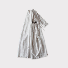 Side smocking dress~cotton linen