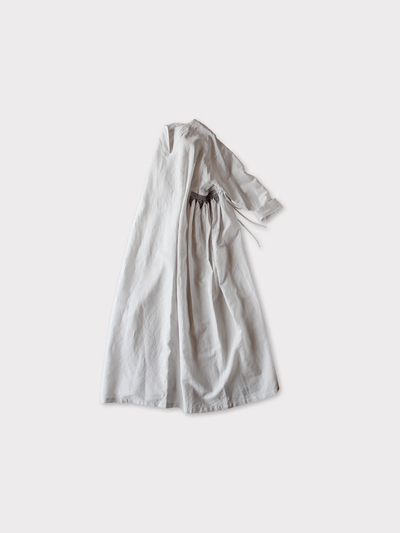 Side smocking dress~cotton linen 1