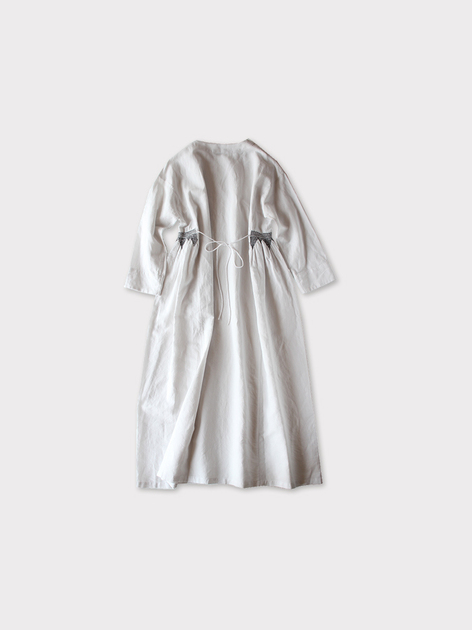 Side smocking dress~cotton linen 3