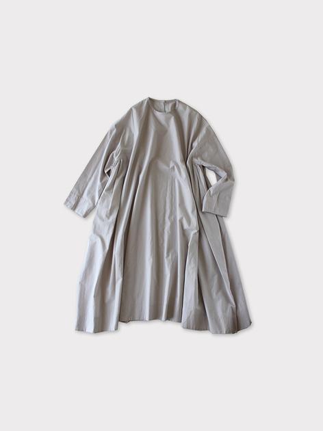 Side gather tent line dress~cotton 2