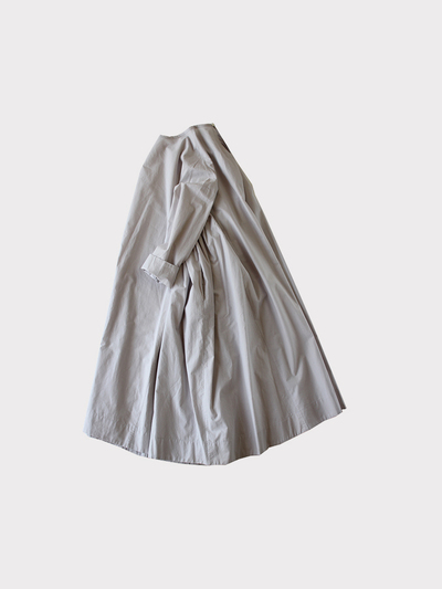 Side gather tent line dress~cotton 1