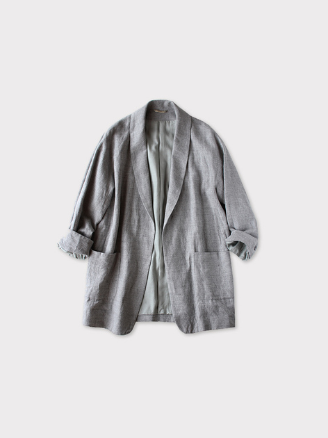 Smoking jacket~cotton linen 3