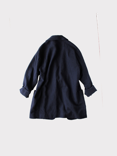 Smoking jacket~cotton linen 4
