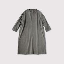 Cocoon dress~wool silk