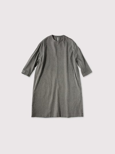 Cocoon dress~wool silk 1