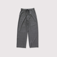 Drawstring straight pants~wool