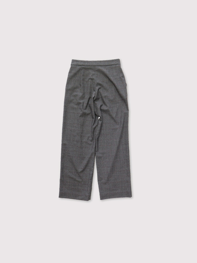 Draw string straight pants~wool  2