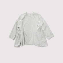 Side gather tent line blouse