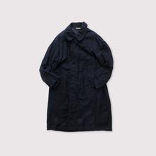 Puckering balmacaan~cotton linen