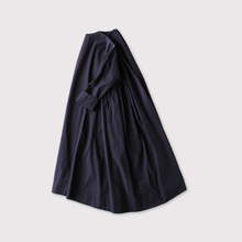 Side gather tent line dress~cotton