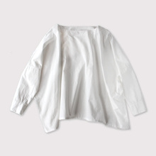 Boat neck big shirt~cotton