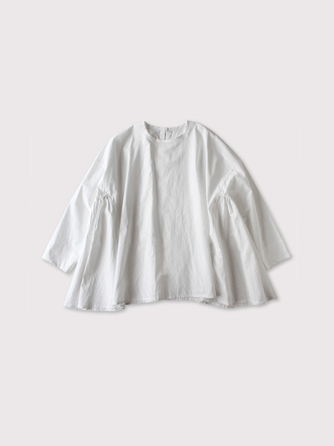 Side gather tent line blouse~cotton 2