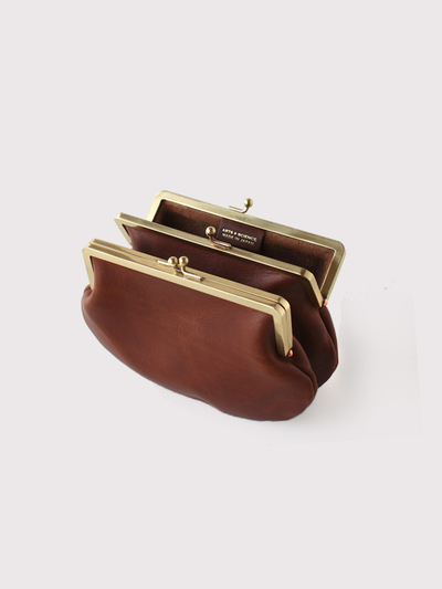 Double gamaguchi purse S~cow leather 2