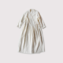 Tuck bottom wrap dress~linensilk 【SOLD】