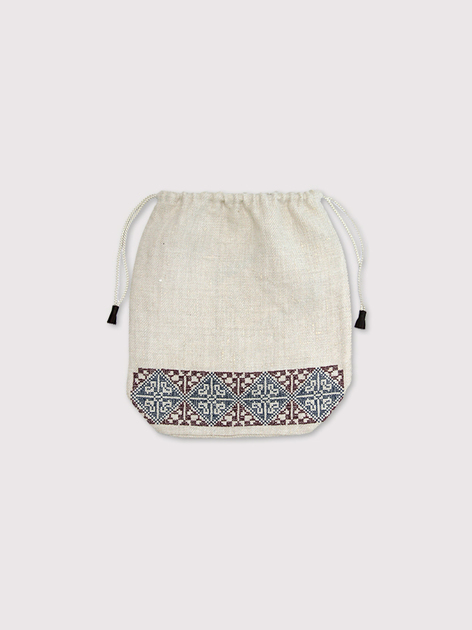 Embroidery draw string pouch【SOLD】 4