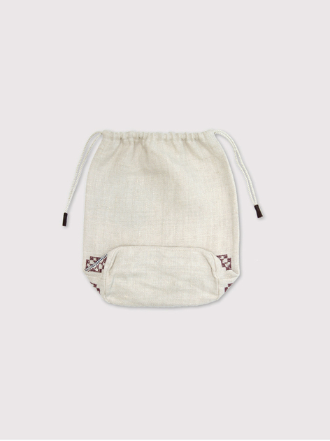 Embroidery draw string pouch【SOLD】 5