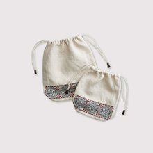 Embroidery draw string pouch