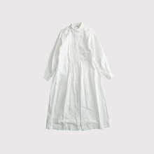 Front open tuck shirt dress【SOLD】