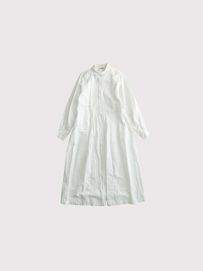 Front open tuck shirt dress【SOLD】 1