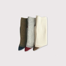 Rib combi socks 【SOLD】