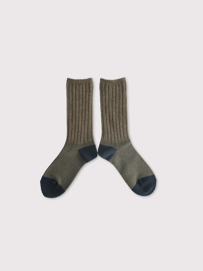 Rib combi socks 【SOLD】 4