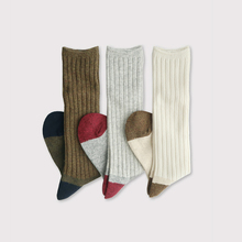 Rib combi socks long