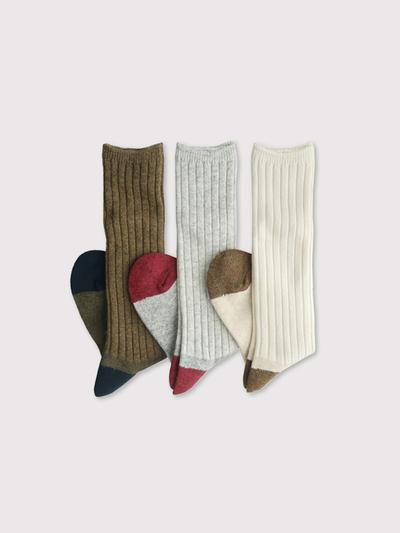 Rib combi socks long【SOLD】 1