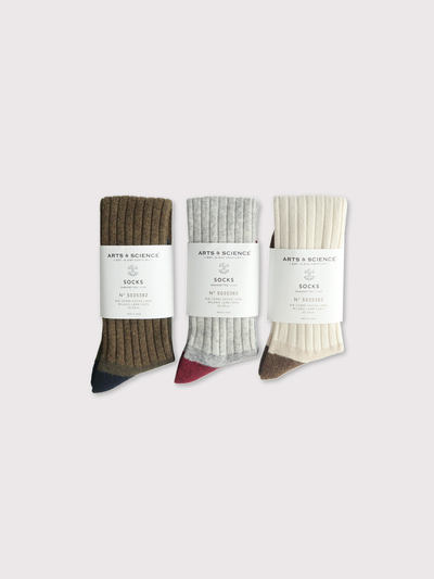 Rib combi socks long 2