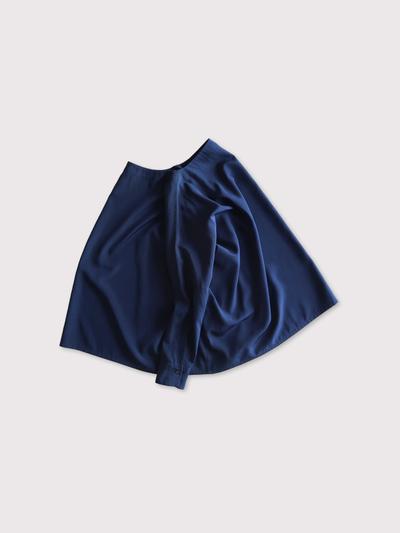 Boat neck big shirt~silk【SOLD】 2