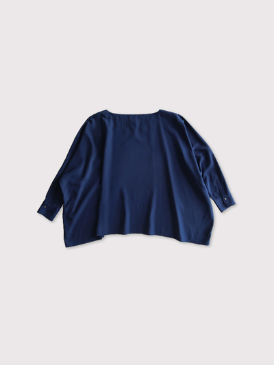 Boat neck big shirt~silk【SOLD】 3