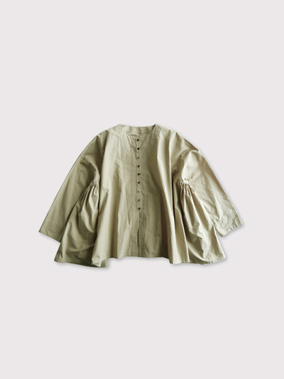 Front open side gather blouse【SOLD】 2