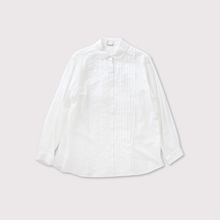 Mini collar front open tuck blouse【SOLD】