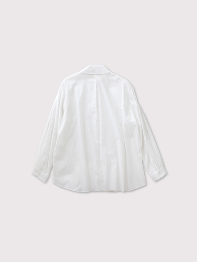 Mini collar front open tuck blouse 2
