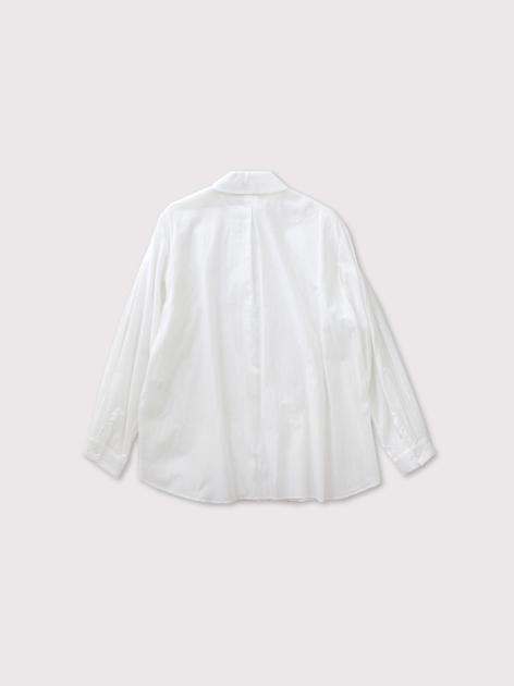 Mini collar front open tuck blouse 2