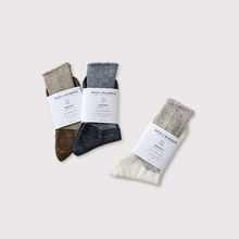 Rib combi color socks【SOLD】