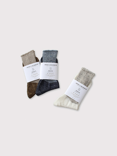 Rib combi color socks【SOLD】 1